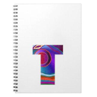 Alfabeto ALFA de la CAMISETA T: Identidad inicial  Libro De Apuntes Con Espiral