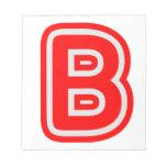 Alfabeto ALPHAB BBB Blocs De Papel