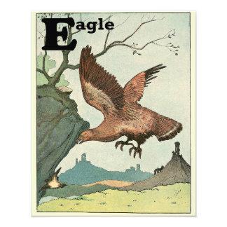 Alfabeto altísimo de Eagle de oro Cojinete