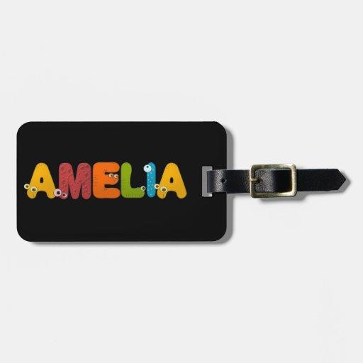 alfabeto animal Amelia Etiquetas Maleta