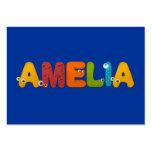 alfabeto animal Amelia Tarjeta De Visita