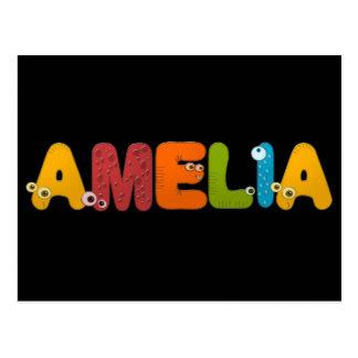alfabeto animal Amelia Tarjetas Postales