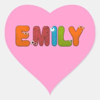 alfabeto animal Emily Calcomanía De Corazón Personalizadas