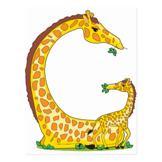 alfabeto animal G Tarjetas Postales