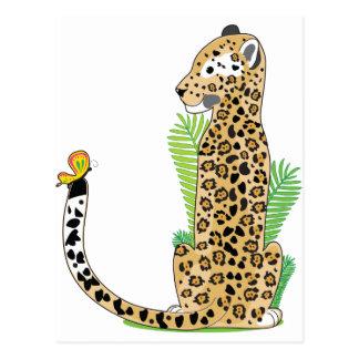 Alfabeto animal Jaguar Tarjeta Postal