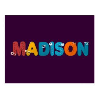 alfabeto animal Madison Tarjeta Postal