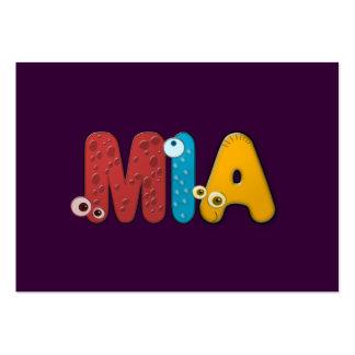 alfabeto animal Mia Tarjeta De Visita