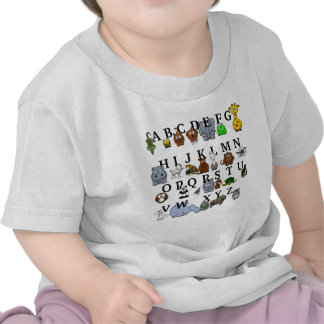 Alfabeto animal camisetas