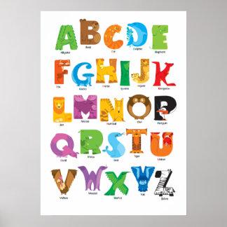 Alfabeto animal póster