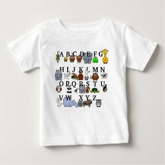 Alfabeto animal remeras