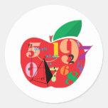 Alfabeto Apple Etiqueta Redonda