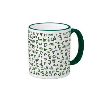 Alfabeto árabe taza de café