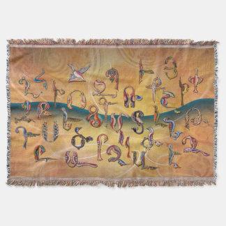 Alfabeto armenio de los pájaros manta