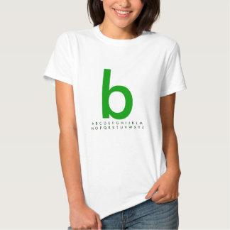 Alfabeto b verde polera