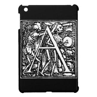 Alfabeto caso del ipad de la letra A de la muerte  iPad Mini Fundas