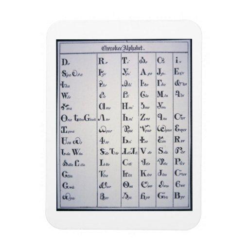 Alfabeto cherokee, desarrollado en 1821 (impresión imanes flexibles