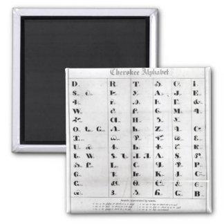 Alfabeto cherokee, Lithography de Pendelton ' Imán Cuadrado
