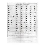 Alfabeto cherokee, Lithography de Pendelton ' Tarjetas Postales
