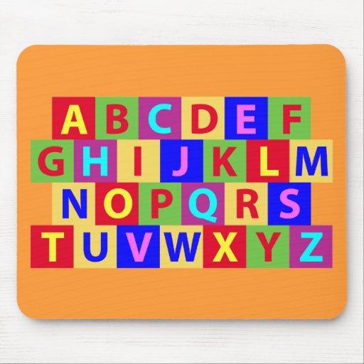 Alfabeto colorido mousepad