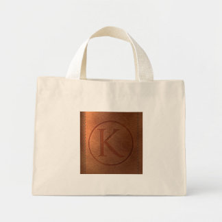 alfabeto cuero carta K Bolsa Tela Pequeña