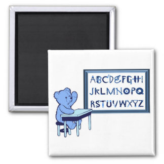 Alfabeto de la caja de herramientas del oso azul iman para frigorífico