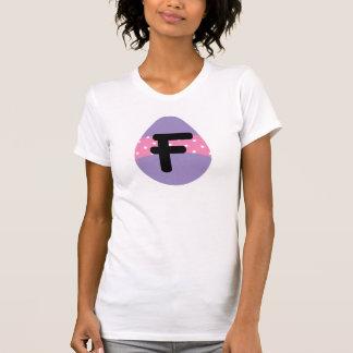 Alfabeto de la letra F de huevo de Pascua Camiseta