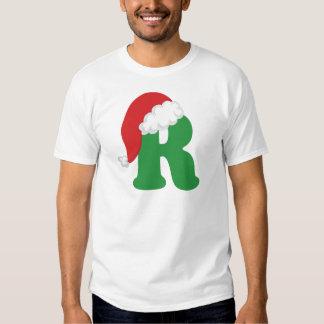 Alfabeto de la letra R del navidad Camisas