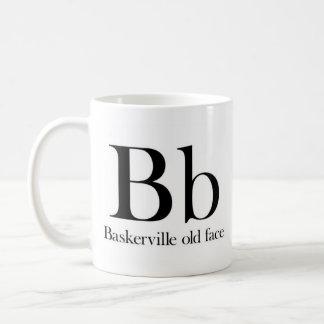 Alfabeto de la taza de la tipografía - cara vieja