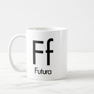 Alfabeto de la taza de la tipografía - Futura
