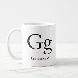 Alfabeto de la taza de la tipografía - Garamond