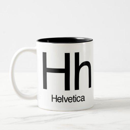 Alfabeto de la taza de la tipografía - Helvética