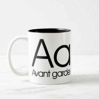 Alfabeto de la taza de la tipografía - vanguardia