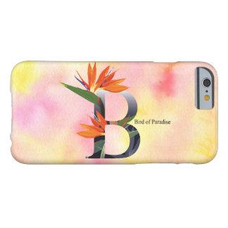 Alfabeto de las flores con el fondo de la acuarela funda barely there iPhone 6