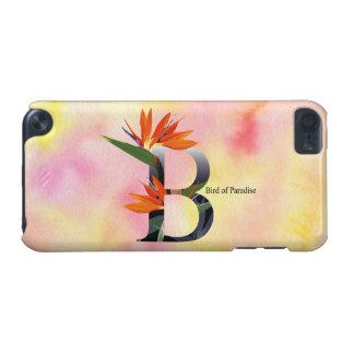 Alfabeto de las flores con el fondo de la acuarela funda para iPod touch 5G