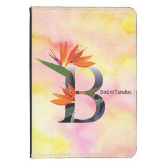 Alfabeto de las flores con el fondo de la acuarela funda para kindle 4