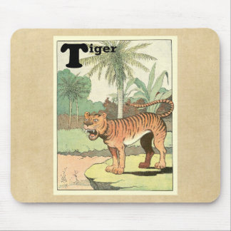 Alfabeto del animal del tigre alfombrillas de ratones