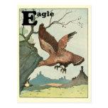 Alfabeto del libro de la historia de Eagle de oro Tarjetas Postales