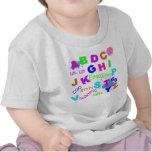 Alfabeto del niño - versión de los chicas camisetas