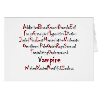 Alfabeto del vampiro tarjetón