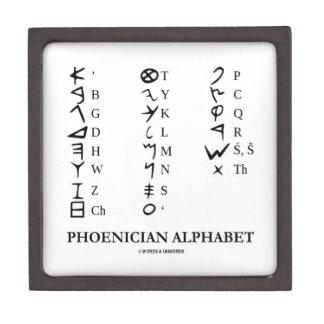 Alfabeto fenicio (símbolos antiguos de la lengua) cajas de regalo de calidad