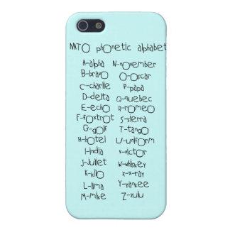 Alfabeto fonético de OTAN iPhone 5 Carcasas