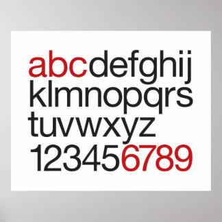 Alfabeto gráfico póster