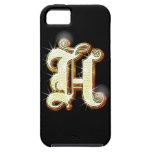Alfabeto H de Bling iPhone 5 Carcasa