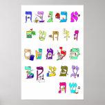 Alfabeto hebreo - poster
