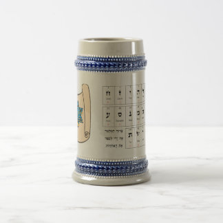 Alfabeto hebreo y simbolismo taza de café