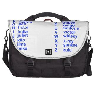 Alfabeto internacional bolsas para portatil