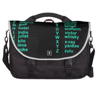 Alfabeto internacional bolsas para portátil