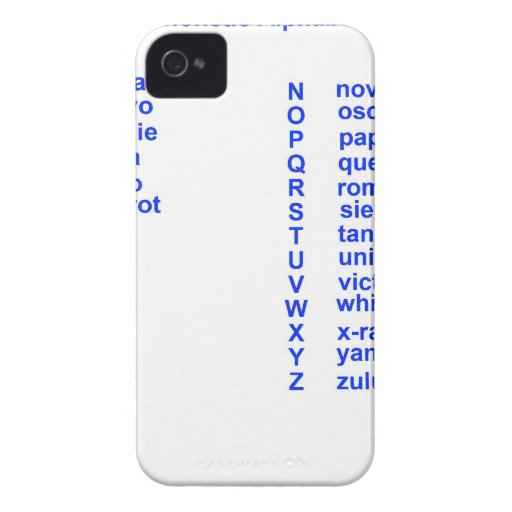Alfabeto internacional iPhone 4 carcasa