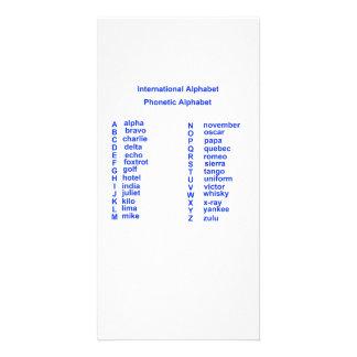 Alfabeto internacional tarjeta personal con foto