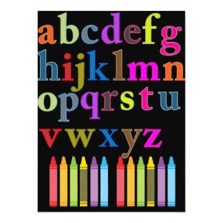"""Alfabeto Invitación 5.5"""" X 7.5"""""""